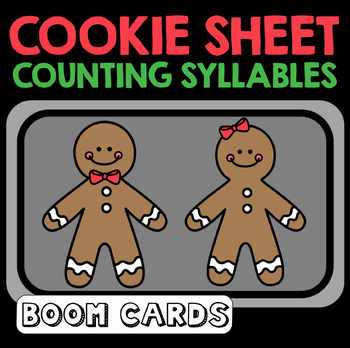Cookie Sheet Counting Syllables Boom Cards |  Digital | Speech Therapy