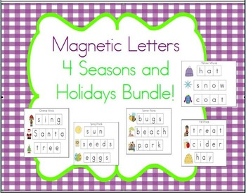 Cookie Sheet Fun: 4 Seasons and Holiday Magnetic Letters Bundle!