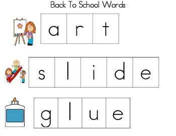 Cookie Sheet Fun: Making Back To School Words With Magnetic Letters!