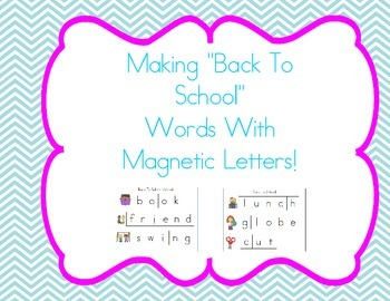 Cookie Sheet Fun: Making Back To School Words With Magneti