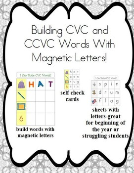 Cookie Sheet Fun: Making CVC and CCVC Words With Magnetic Letters!