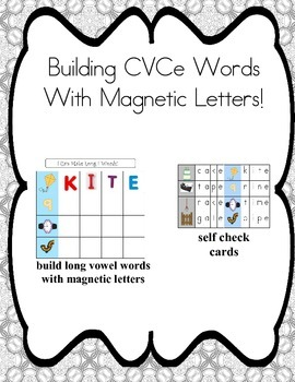 Cookie Sheet Fun: Making CVCe Words With Magnetic Letters!