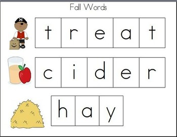 Cookie Sheet Fun: Making Fall Words With Magnetic Letters!