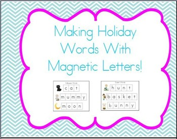 Cookie Sheet Fun: Making Holiday Words With Magnetic Letters!