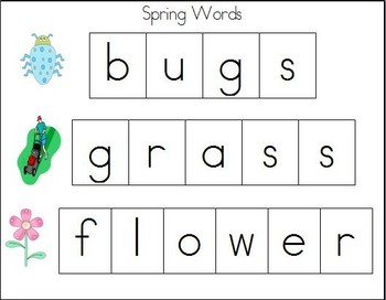 Cookie Sheet Fun: Making Spring Words With Magnetic Letters!