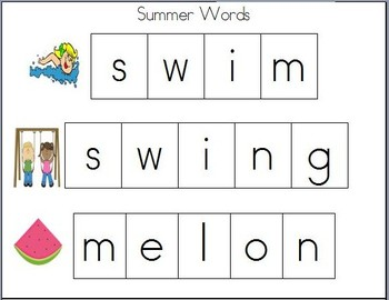 Cookie Sheet Fun: Making Summer Words With Magnetic Letters!
