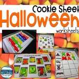 Halloween Activities with Cookie Sheets