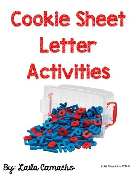 Cookie Sheet Letter Activities