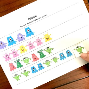 Cookie Sheet Math Activities for Preschool With a Monster Theme