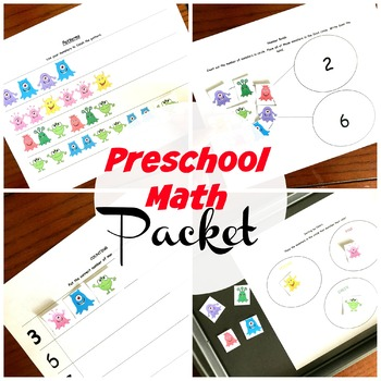 Cookie Sheet Math Activites for Preschool.