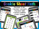 Math Center Activities on a Cookie Sheet - Number Identification & more