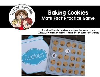 Cookie Sheet Math Fact Game
