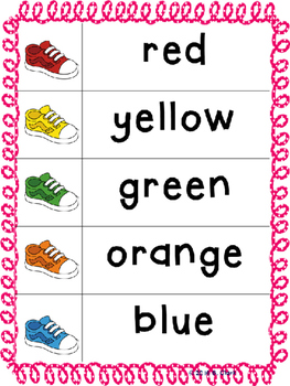 Cookie Sheet Number, Color and Shape Activities