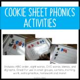 Cookie Sheet Phonics Activities