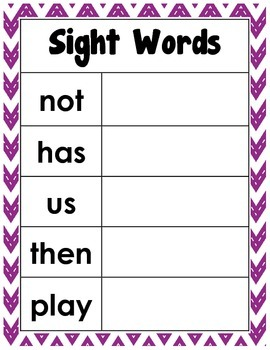 Cookie Sheet Sight Word Practice