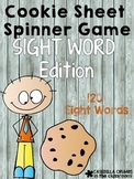 Cookie Sheet Sight Word Spinner Game
