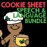 Cookie Sheet Speech & Language Bundle plus Boom Cards | Christmas Activities