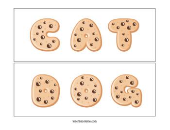 Cookie Sight Word Spelling