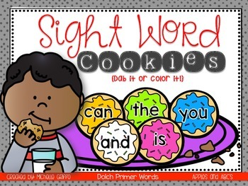 Cookie Sight Words: Dolch Primer Sight Words