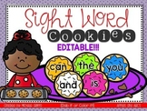 Cookie Sight Words {EDITABLE}