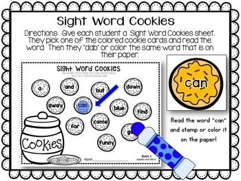 Cookie Sight Words {EDITABLE}