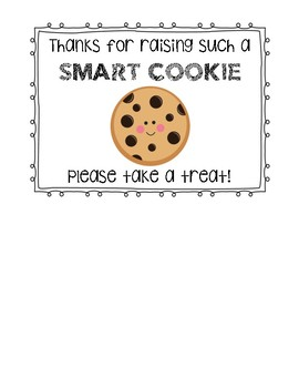 Smart Cookie Sign for Parent Conferences/Open House