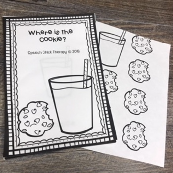 Cookie Spatial Concept Books for Speech Therapy