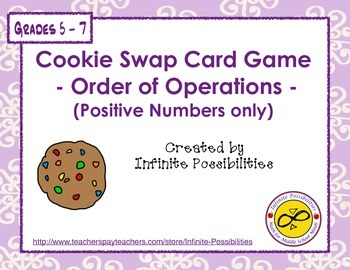 Order of Operations (Positive Numbers Only) Cooperative Card Game