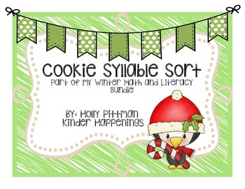 Cookie Syllable Sort- Winter Words
