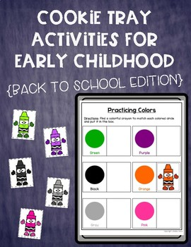 Cookie Tray Activities for Early Childhood: Back to School Edition