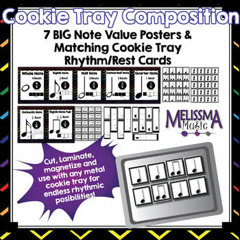 Cookie Tray Composition Classroom Pack: Rhythm Posters and Composition Cards