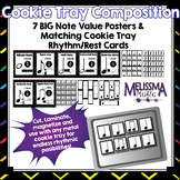 Cookie Tray Composition Classroom Pack: Rhythm Posters and