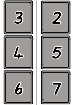 Cookie Tray Number Match Up - Freebie