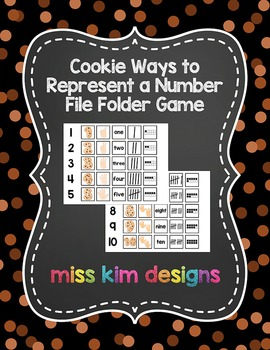 Cookie Ways to Represent A Number File Folder Game