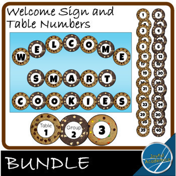 Smart Cookies Welcome Sign and Table Numbers Bundle