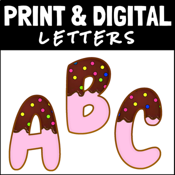cookie or donut letters and numbers