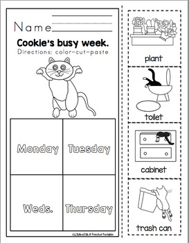 """Cookie""""s Very Busy Week  Book Unit"""