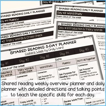 Cookie's Week: Shared Reading Lesson Plans & Activities