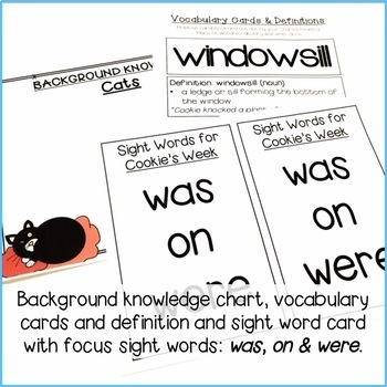 Shared Reading Lesson Plans & Activities: Cookie's Week