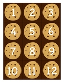 Cookie themed pocket chart numbers 1-100