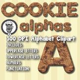 Cookies Alphabet Alpha Clip Art