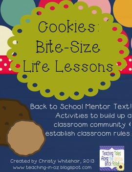 Cookies: Bite-Size Life Lessons Back To School Mentor Text