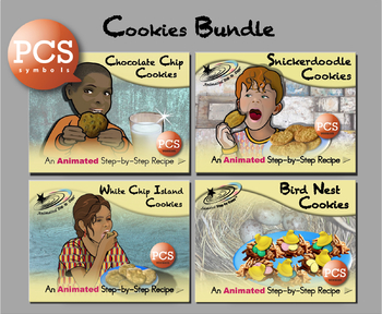 Cookies Bundle , Animated Step,by,Step Recipes , PCS