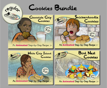 Cookies Bundle - Animated Step-by-Step Recipes - Regular