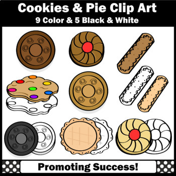 Cookies Clip Art, Baking Pie Clipart, Cooking Theme Commercial Use SPS