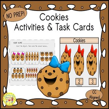 Cookies Count and Clip Task Cards
