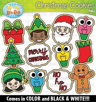 Cookies For Santa / Christmas Cookies Clipart {Zip-A-Dee-Doo-Dah Designs}