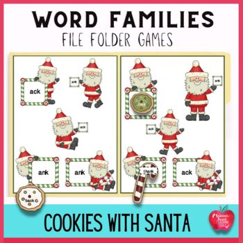 Christmas Word Families File Folder Games: Cookies for Santa