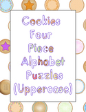 Cookies Four Piece Alphabet Puzzles