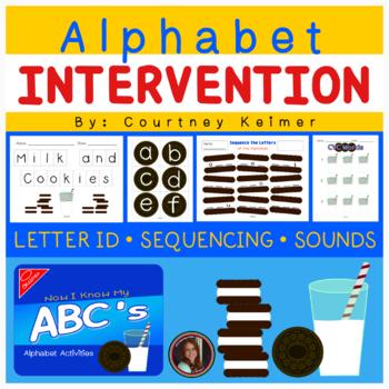 Cookies & Milk Alphabet Activities {Letter Identification, Sounds & Sequencing}